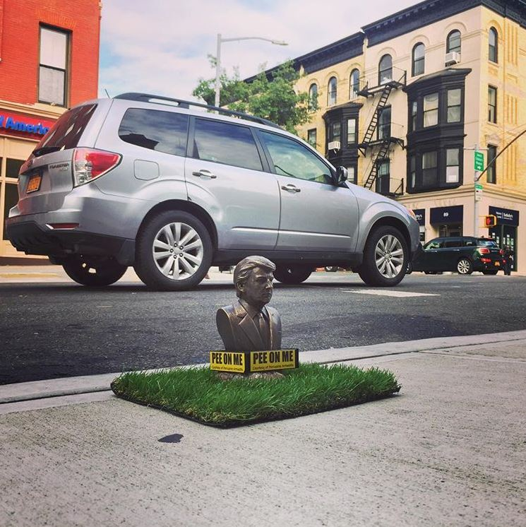 Dogs Find Relief With Trump 'Pee On Me' Statues Across Brooklyn
