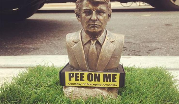 Trump 'Pee On Me' Statues