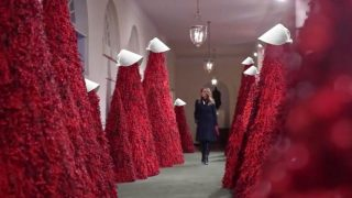 14 Internet Responses To Melania Trump's Merry Bloody Christmas Decorations