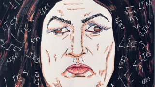 "Jim Carrey Calls Sarah Sanders ""Gorgon"" in Latest Painting"