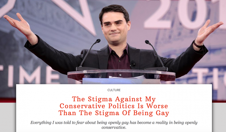 Being Conservative Brings More Stigma Than Being Gay