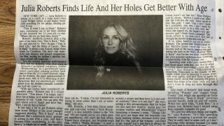 Newspaper Headline Typo Claims Julia Roberts' 'Holes' Get Better With Age