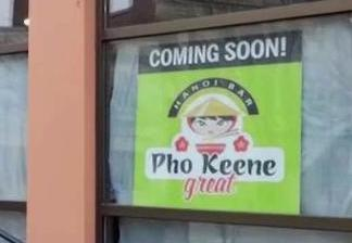 City Requests Vietnamese Restaurant 'Pho Keene Great' Take Down 'Offensive' Sign