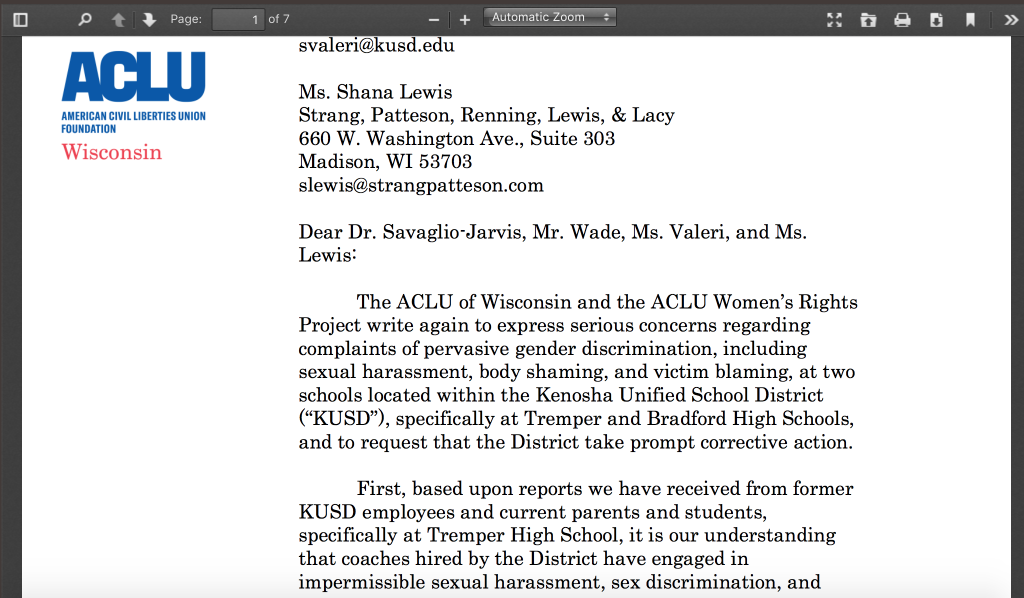 ACLU Defends Wisconsin High School Cheerleaders Over 'Big Booty,' 'Big Boobie' Awards