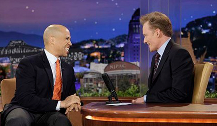 Cory Booker and Conan O'Brien's Joke Battle Over Newark