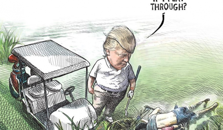 Political Cartoonist Canned For Controversial Trump-Migrant Drawing