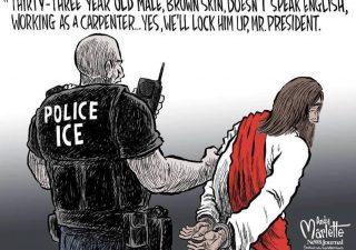 Cartoonist Inserts Jesus Into Immigration Debate