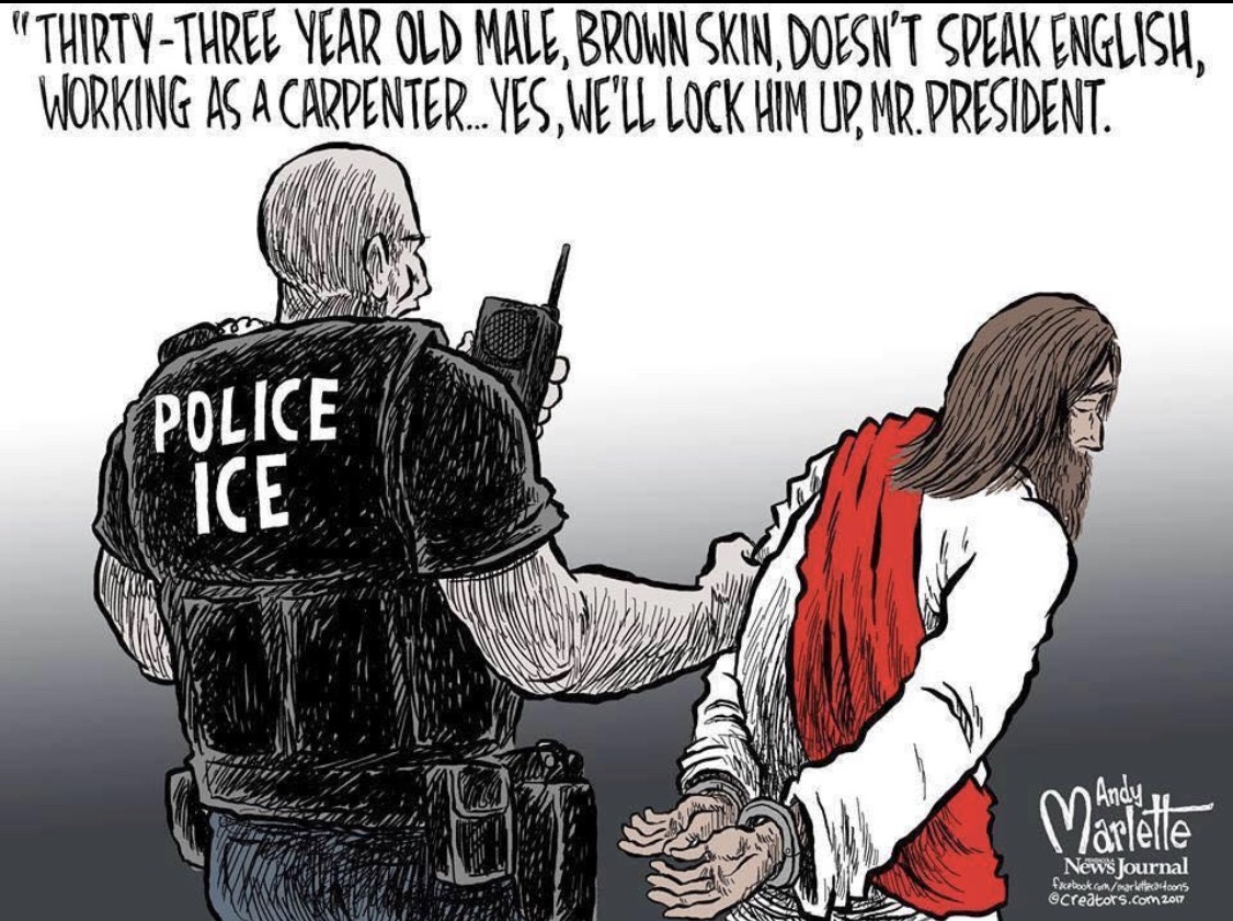 Cartoonist Inserts Jesus Into Immigration Debate