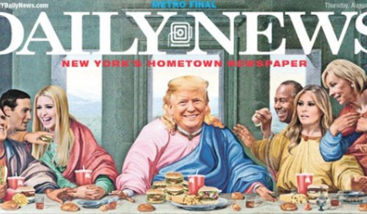 New York Daily News Blesses Trump with Biblical Cover