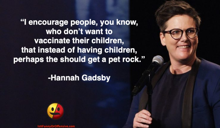 Hannah Gadsby on Anti-Vaxxers