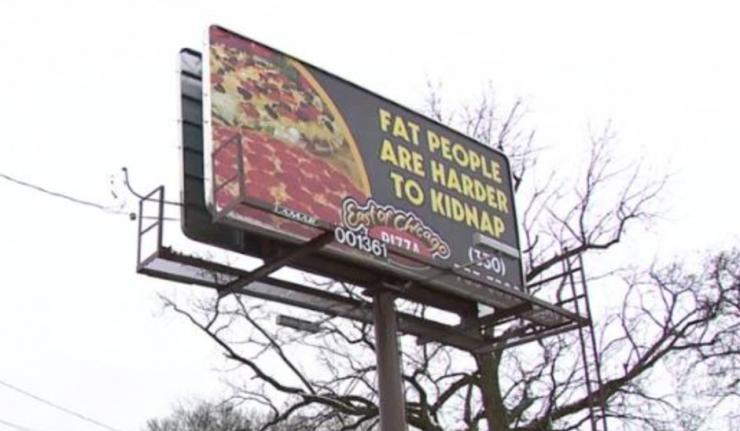 pizza billboard human trafficking