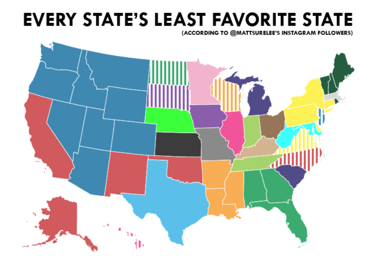 Which States Hate Each Other