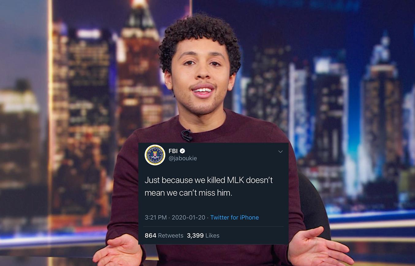 Comedian Impersonates FBI on Twitter, Makes MLK Assassination Joke